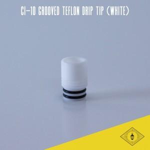 Norbert - CI-10 Grooved Teflon Drip Tip (white)