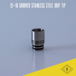 Norbert - CI-10 Grooved Stainless Steel Drip Tip